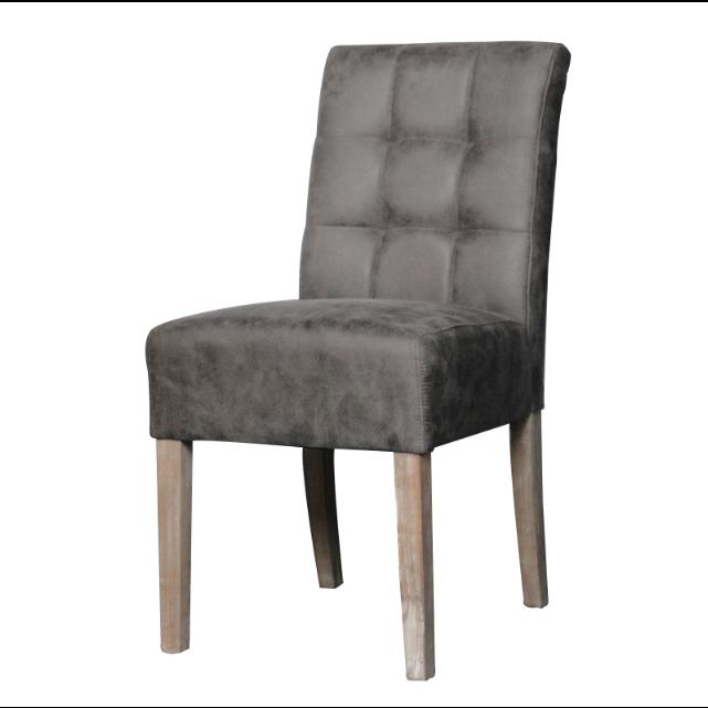 Eetkamerstoel eetkamerstoelen taupe sem modern stoer hout stoel stoelen eetkamer - Eetkamer leunstoel ...